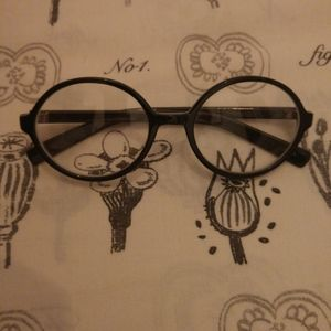 FREE w/ $30 Purchase; Black Round Rimmed Glasses